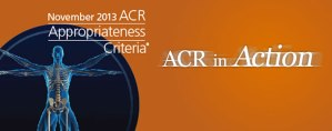 Logo for the new ACR appropriateness criteria.