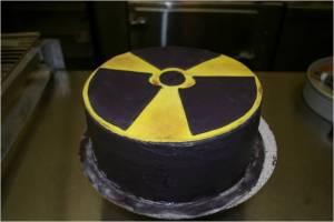 Radioactive birthday cake.
